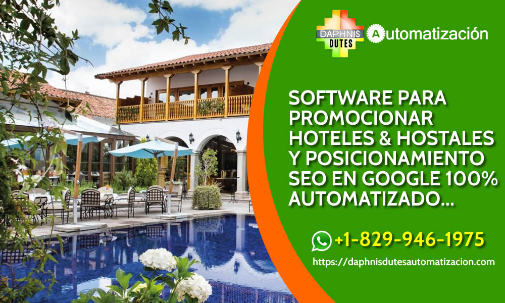 Software inteligencia artifical para  seo local hotels, hostales, cabañas, albergue, alojamientos